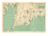 1891, Cape Cod, Plymouth, Barnstable, Falmouth, Mashpee, Bourne, Marion, Massachusetts, USA Giclee Print