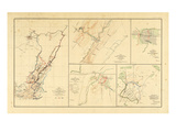 1891, Civil War Atlas, Virgina, Tennessee Giclee Print