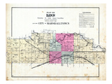 1885, Linn and the City of Marshalltown, Iowa, United States Giclee Print