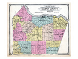1915, Cooper County Outline Map, Missouri, United States Giclee Print