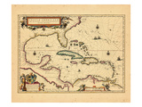 1635, West Indies, Central America Giclee Print