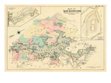 1887, Lake Hopatcong, Morris, Sussex Counties, Landing, New Jersey, United States Giclee Print