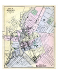 1884, Auburn City, Lewiston City, Maine, United States Giclee Print