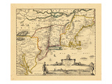 1729, Connecticut, Maine, Maryland, Massachusetts, New Hampshire, New Jersey, New York Giclee Print