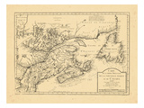 1744, Newfoundland and Labrador, New Brunswick, Nova Scotia, Prince Edward Island Giclee Print