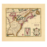 1763, Connecticut, Florida, Georgia, Maine, Massachusetts, New Hampshire, New Jersey, New York Giclee Print