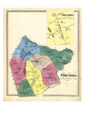 1869, Columbia, Columbia Town, Connecticut, United States Giclee Print