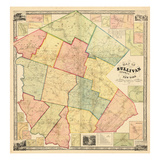 1856, Sullivan County 1856 Wall Map, New York, United States Giclee Print