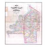 1872, Coahoma County Wall Map, Mississippi, United States Giclee Print