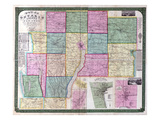 1852, Ontario County 1852 Wall Map, New York, United States Giclee Print