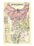 1871, Brunswick, Harpswell, Orrs Island, Baileys Island, Maine Giclee Print