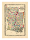 1867, Arkansas, Louisiana, Mississippi Giclee Print