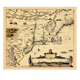 1662, Connecticut, Maine, Massachusetts, New Jersey, New York, New Hampshire, Rhode Island, Vermont Giclee Print