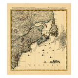 1741, Connecticut, Maine, Massachusetts, New Brunswick, Newfoundland and Labrador, Nova Scotia Giclee Print