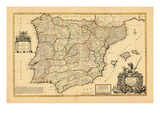 1711, Kingdoms of Portugal and Spain Giclee Print