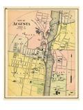 1884, Augusta City, Maine, United States Giclee Print