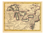 1749, Illinois, Indiana, Michigan, Minnesota, New York, Ohio, Ontario, Pennsylvania, Wisconsin Giclee Print