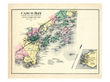 1884, Casco Bay, Scarborough, Cape Elizabeth, Portland, Falmouth, Cumberland, Yarmouth Giclee Print