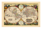 1657, World Giclee Print