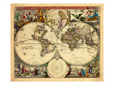 1658, World Giclee Print