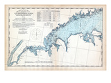 1893, United States Coast Survey - New York to Norwalk Islands - Long Island Sound, Connecticut, US Giclee Print
