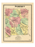 1869, Pomfret, Vermont, United States Giclee Print