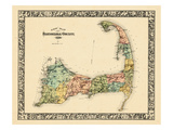 1880, Barnstable County and Cape Cod B, Massachusetts, United States Giclee Print