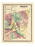 1869, Sharon, Vermont, United States Giclee Print