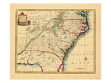 1747, Florida, Georgia, North Carolina, South Carolina Giclee Print