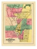 1872, Scranton City, Pennsylvania, United States Giclee Print