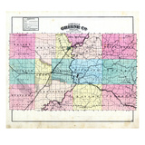 1879, Greene County Outline, Indiana, United States Giclee Print