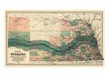 1880, Nebraska 1880 State Map, Nebraska, United States Giclée-Druck