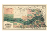 1880, Nebraska 1880 State Map, Nebraska, United States Giclee Print