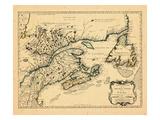 1755, New Brunswick, Newfoundland and Labrador, Nova Scotia, Prince Edward Island Giclee Print