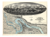1863, Vicksburg Bird's Eye View, Mississippi, United States Giclee Print