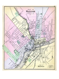 1884, Bangor City, Brewer Town, Maine, United States Giclee Print