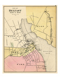 1884, Belfast City, Maine, United States Giclee Print