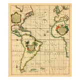 1706-, Africa, Europe, North America, South America Giclee Print