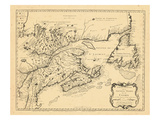 1745, New Brunswick, Newfoundland and Labrador, Nova Scotia, Prince Edward Island Giclee Print