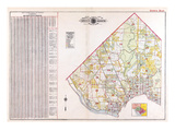 1919, Index Map, District of Columbia, United States Giclee Print