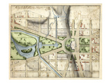 1815, Washington D.C. Vicinity of the Capitol, District of Columbia, United States Reproduction procédé giclée