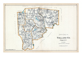 1893, Tolland County - South Part, Connecticut, United States Giclee Print
