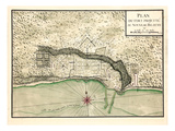 1721, Biloxy City Map, Mississippi, United States Giclee Print