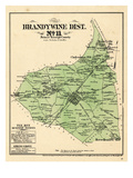 1878, Prince George County - District 11 - Brandywine City, Tee Bee, Cheltenham, Rosaryville, USA Giclee Print