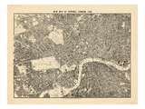1892, centrala London, Storbritannien Gicleetryck