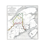 1898, Maine, New Brunswick Giclee Print