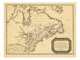 1656, Canada, Florida, Massachusetts, Virginia Giclee Print
