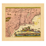 1720, Connecticut, Maine, Maryland, Massachusetts, New Hampshire, New Jersey, New York, Pennsylvani Giclee Print