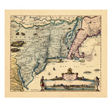 1656, Massachusetts, New York, Nova Scotia, Virginia Giclee Print