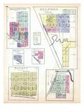 1887, Bennington, Delphos, Verdi, Ada, Niles, Tescott, Bridgeport, Kansas, United States Giclee Print